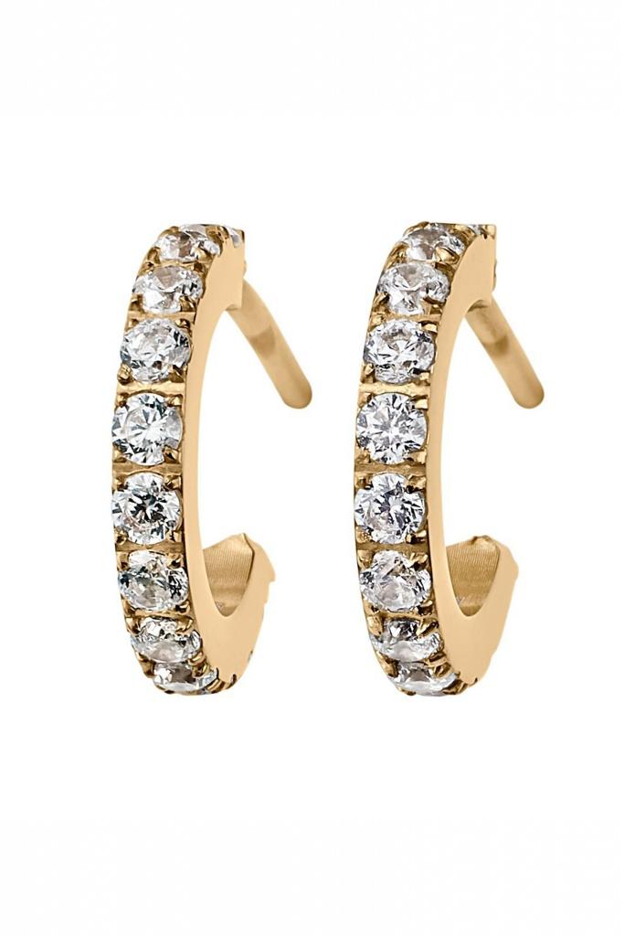 Glow earrings micro gold gold
