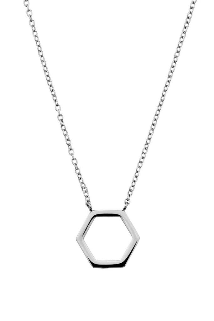 Hexagon Necklace Steel steel