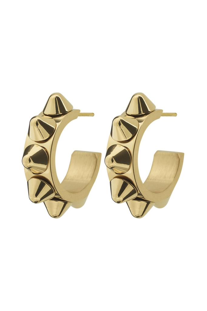 Peak Creole Earrings Small Gold gold