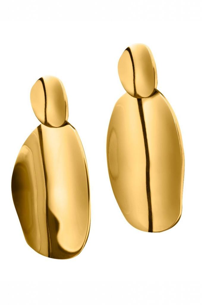 Pebble Earrings gold
