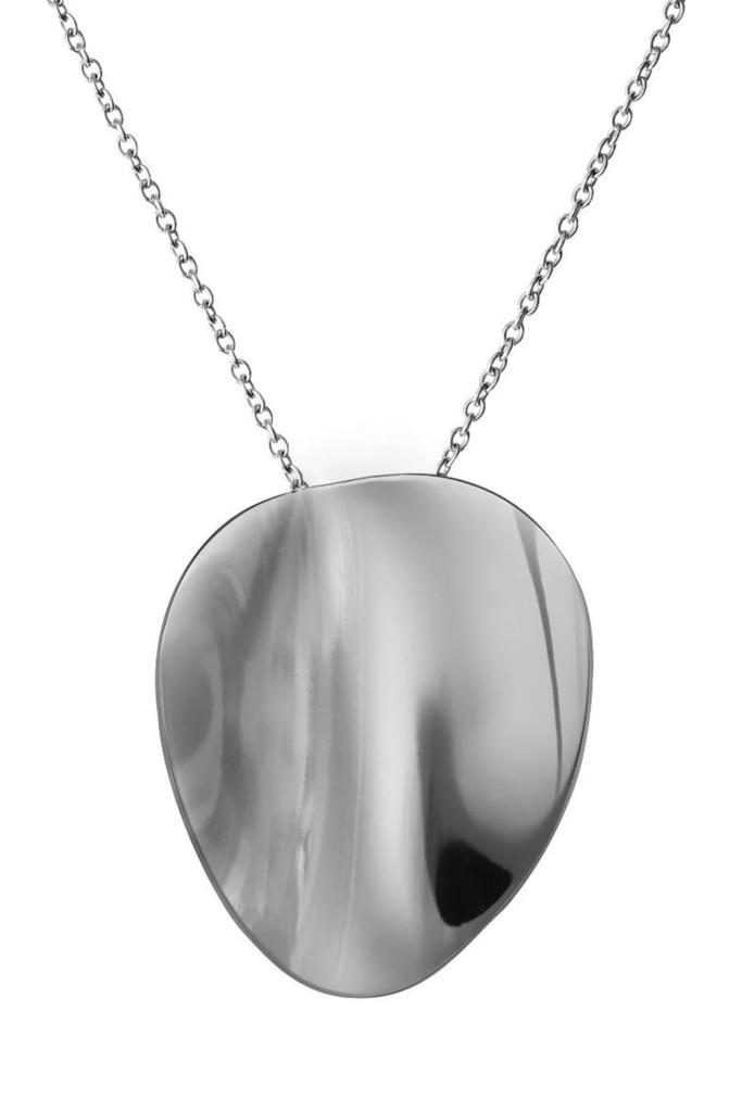 Pebble Necklace Long steel
