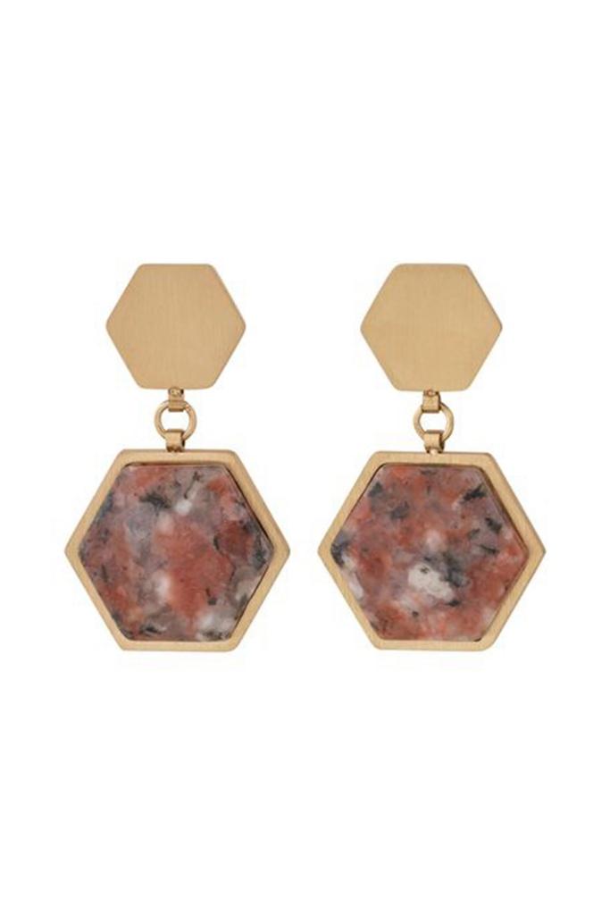 Sapphire Earrings Energy matt gold