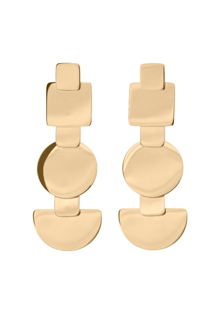 Shapes Earrings Gold gold