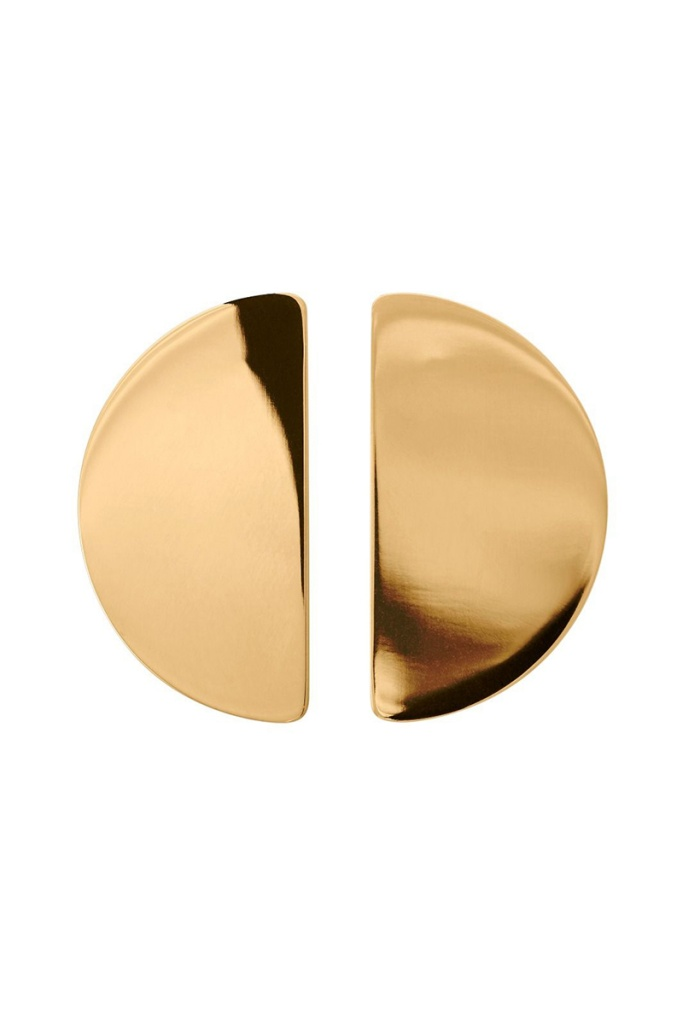 Shapes Studs Semicircle Gold gold