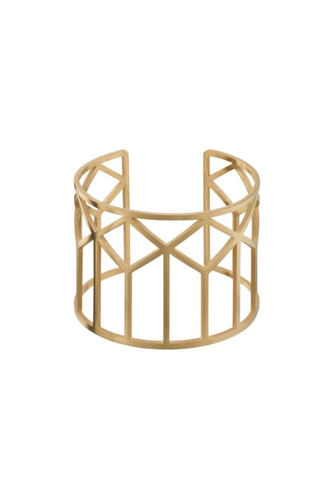 Shirin Bangle Matt Gold gold