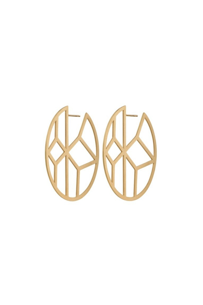 Shirin Earrings Matt Gold gold
