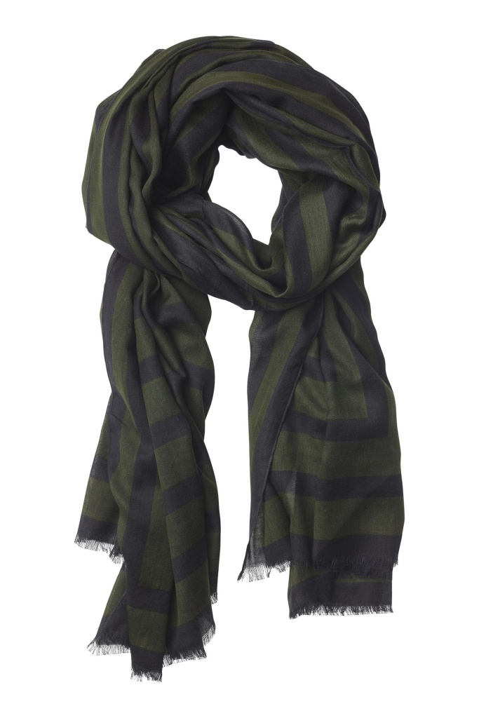 Square Cotton Scarf Forest Forrest