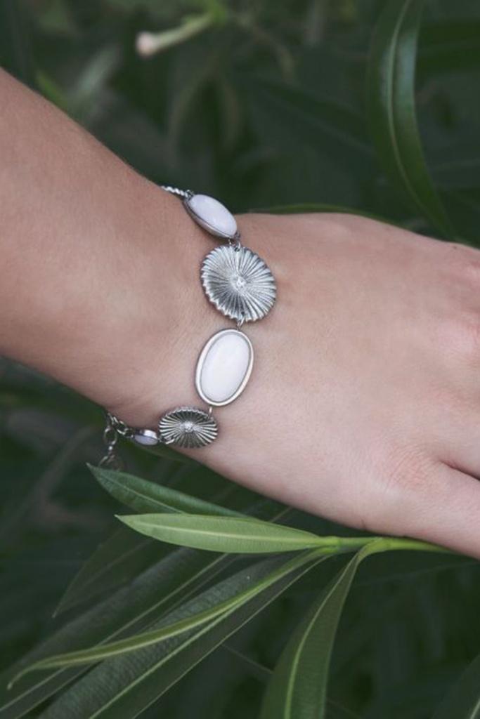 Crinkle Opal Bracelet Matt Steel steel
