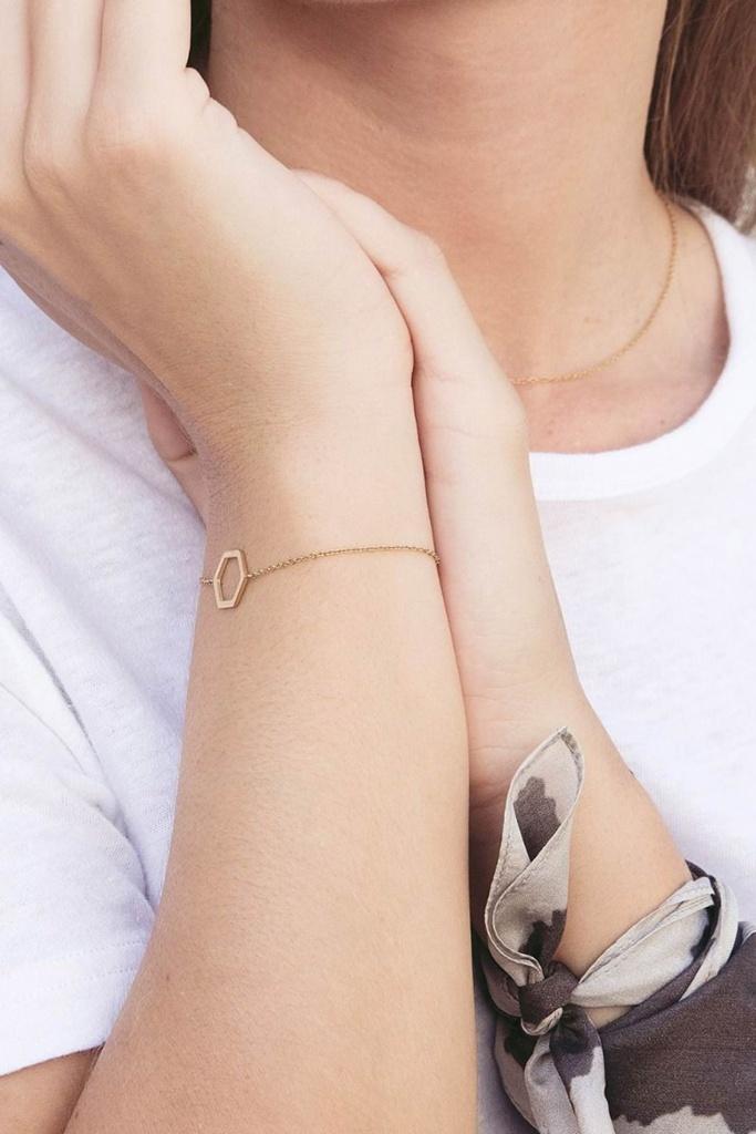 Hexagon Bracelet Gold gold