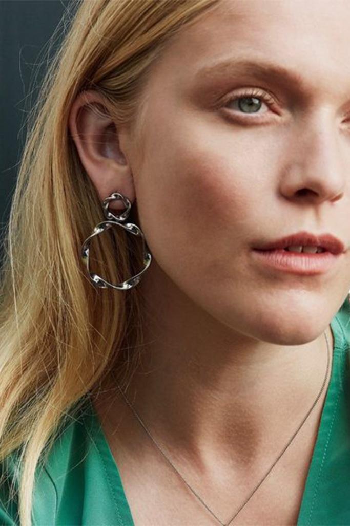 Swirl Earrings steel