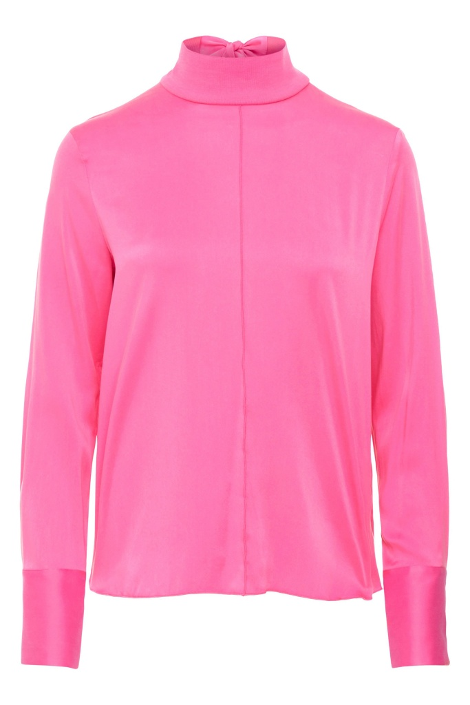 Henriette Washed Silk Pop Pink