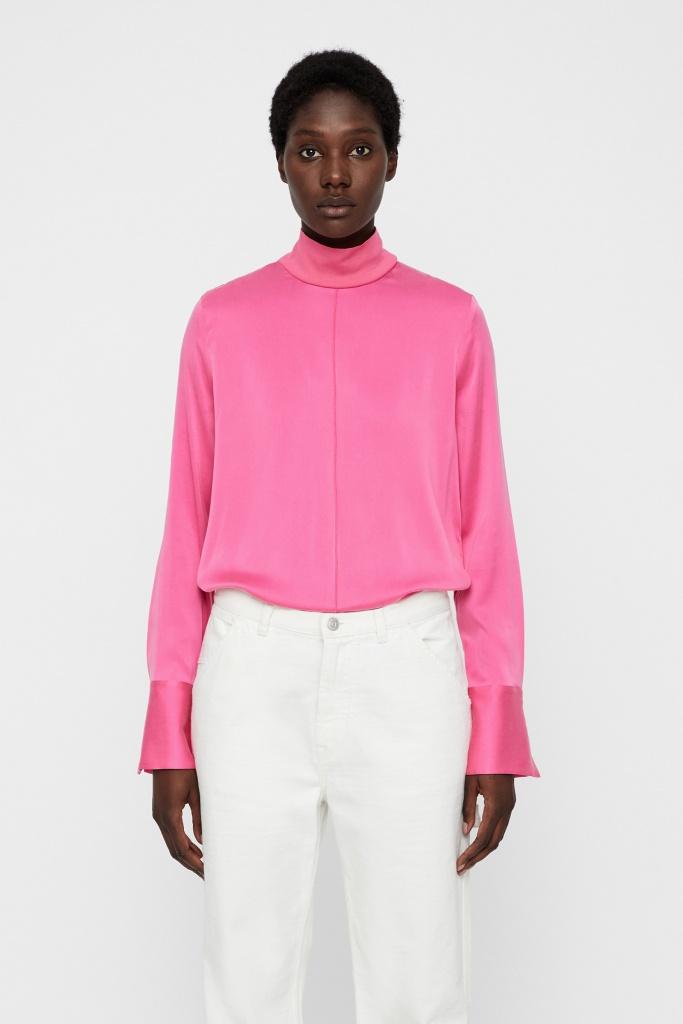 Henriette Washed Silk Pop Pink