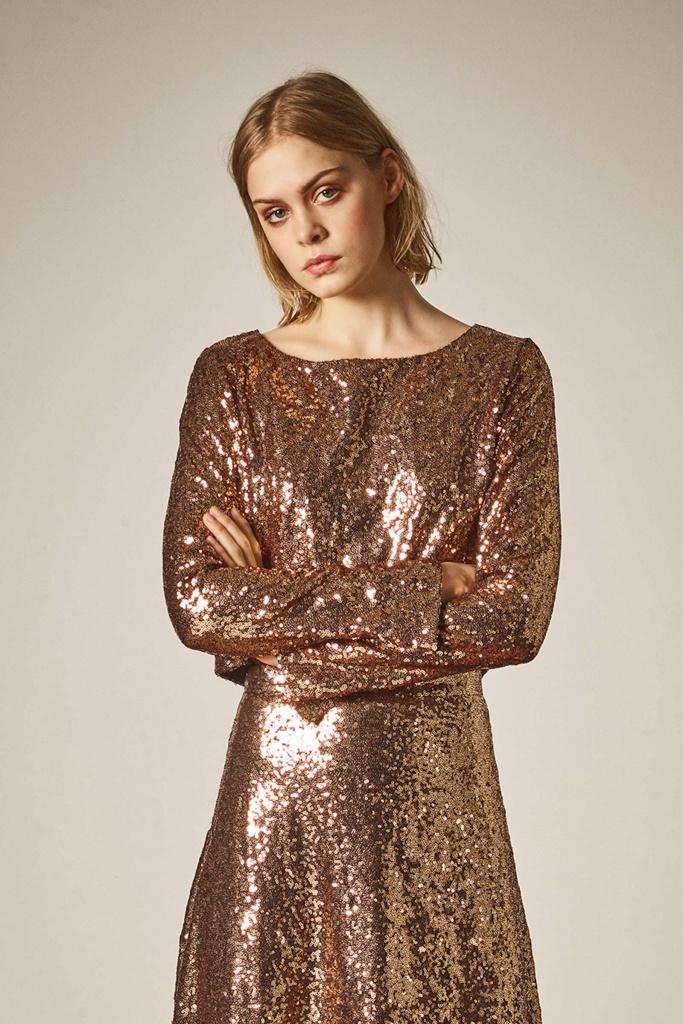 Tito cropped blouse copper/black