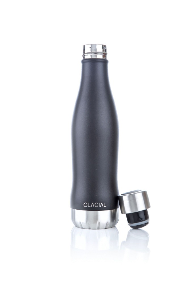 Glacial Mat Black 400ml Black