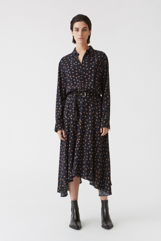 Bex Dress blue dot