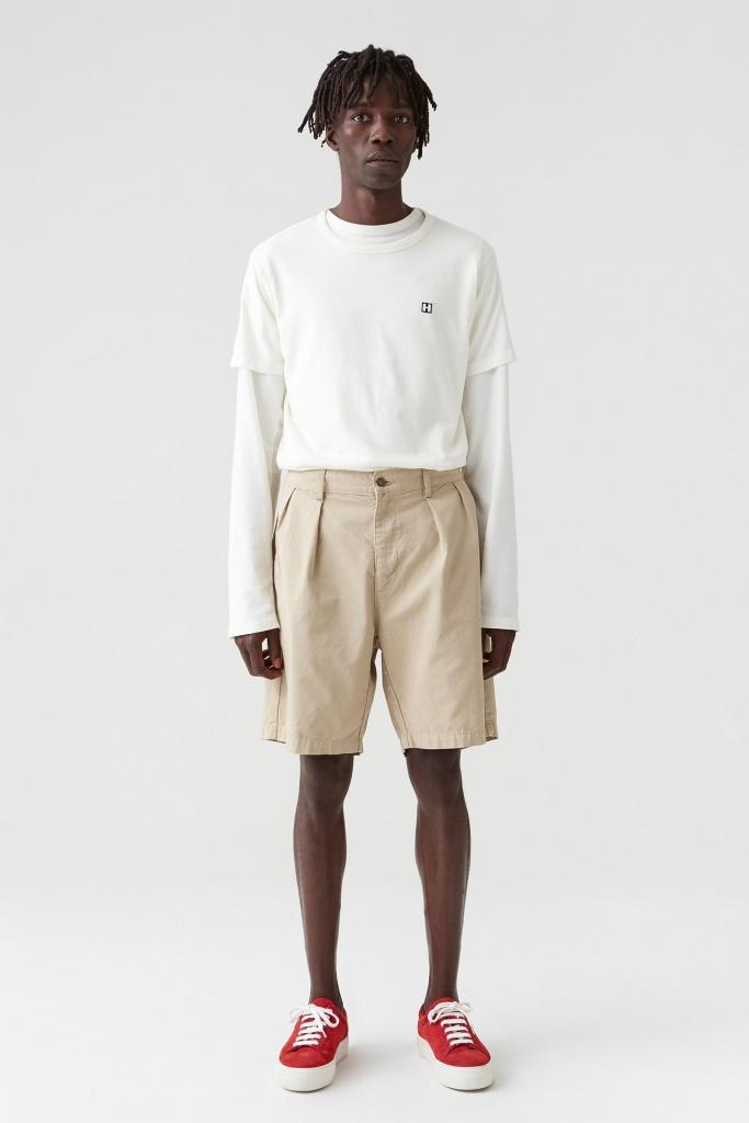Tuck Shorts Oat Beige