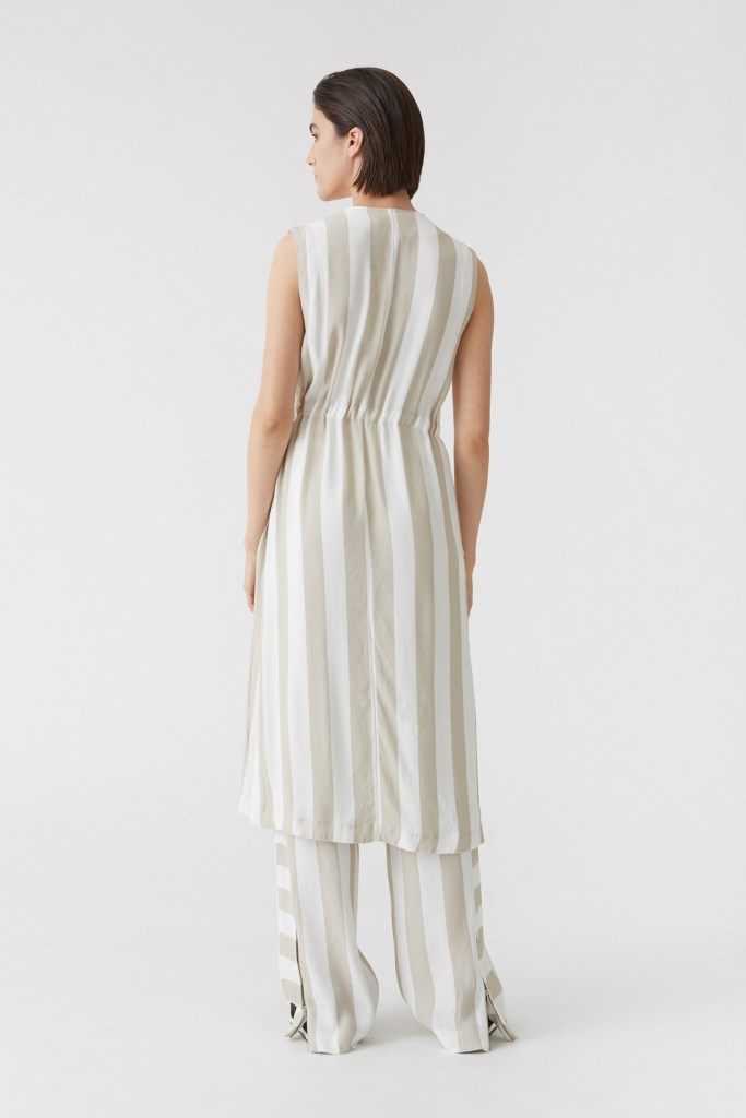 Zana Dress Beige Stripe