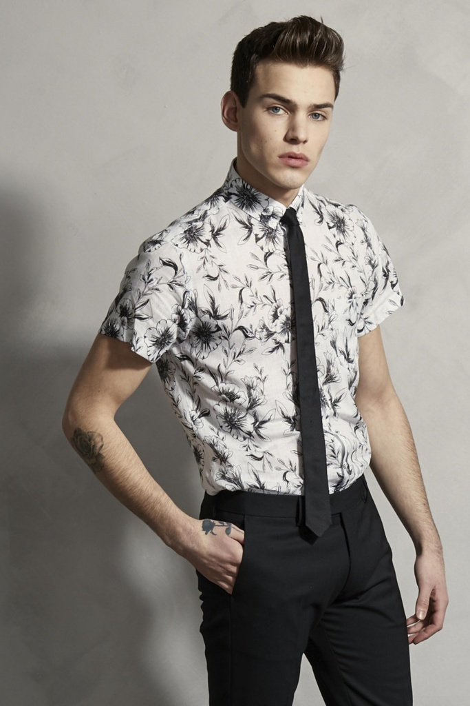 Linen Short Sleeve Shirt White By Hand