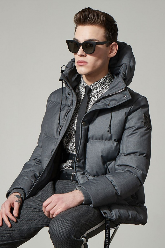 Vegan Puffer Jacket grey