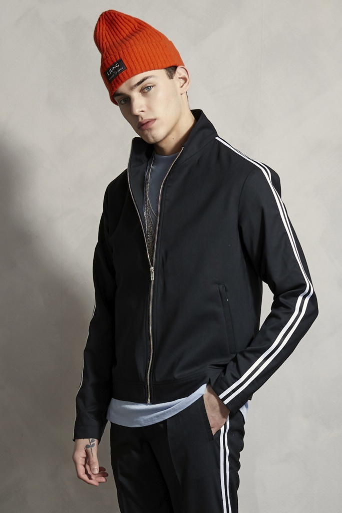 Side Stripe Jacket Black