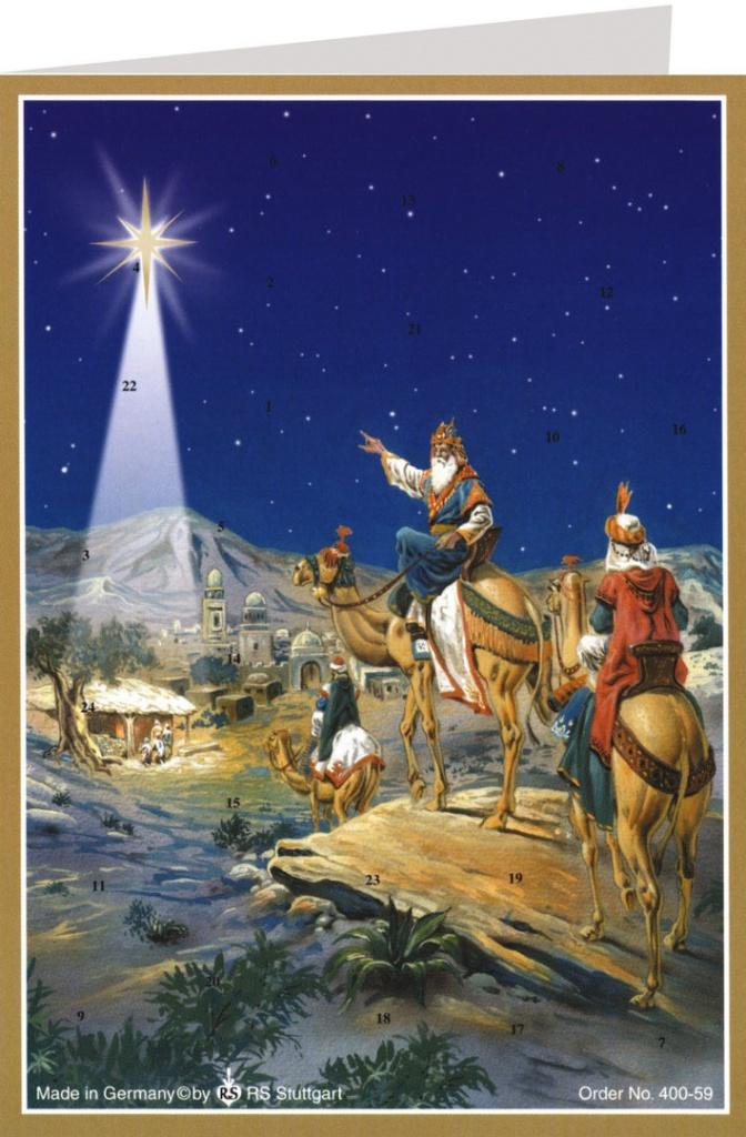Adventskalender n. 400-59 m kuvert