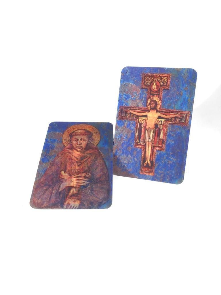 Franciskus/San Damiano-korset, 3D-kort