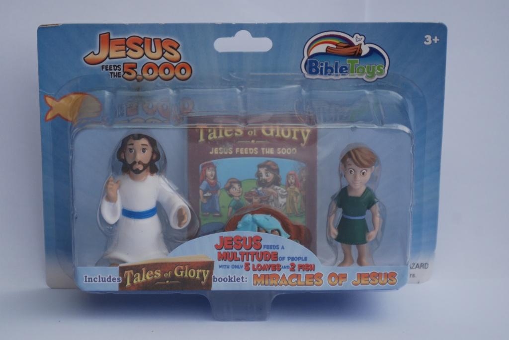 Actionfigurer Jesus och Petrus