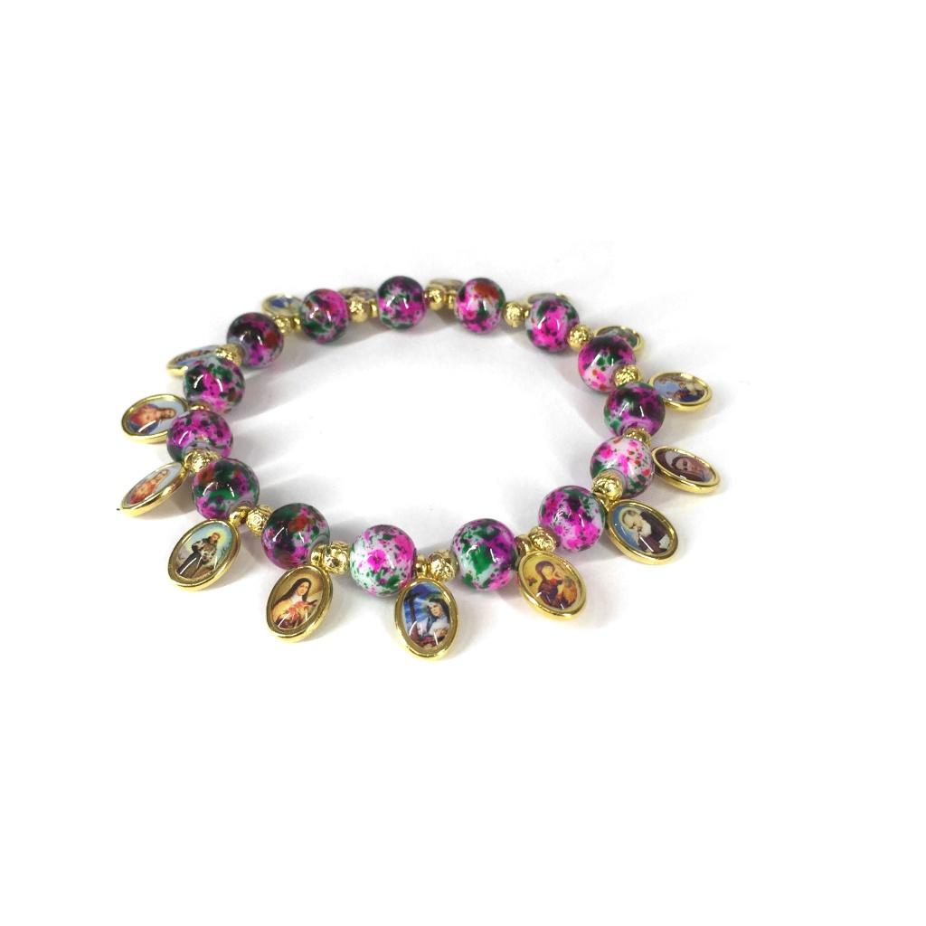 Helgon-armband, lila