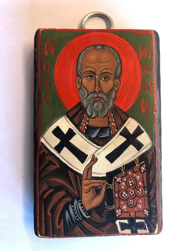 Helige Nikolaus av Myra (7x12), äkta ikon