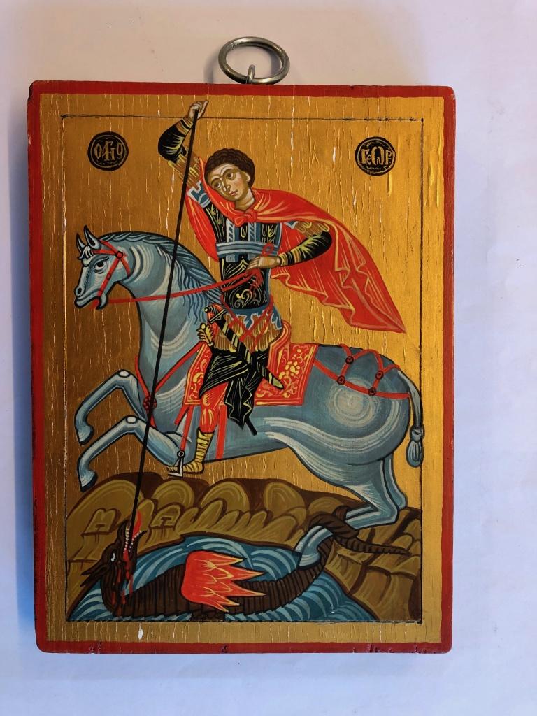 St Göran och draken (15x20), äkta ikon