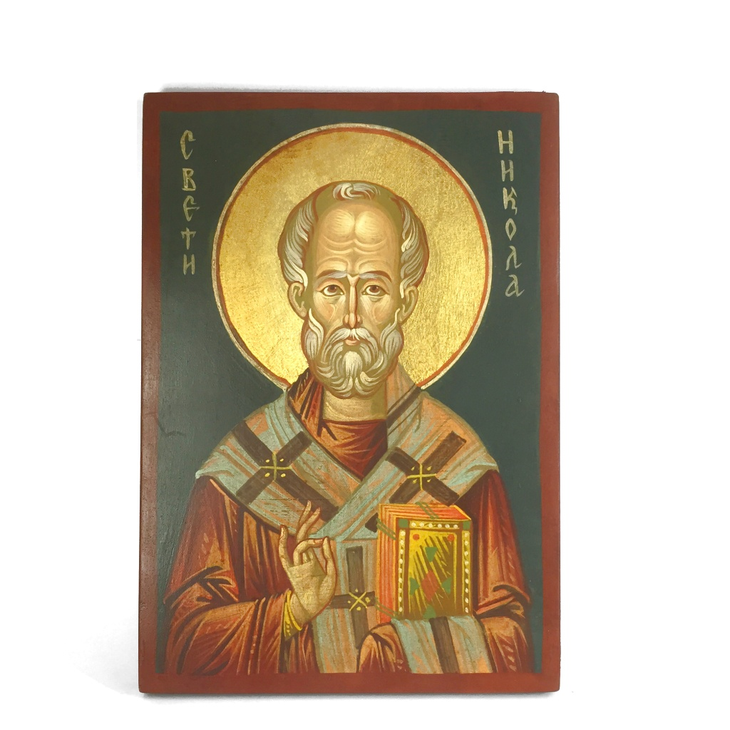 Helige Nikolaus av Myra, äkta ikon