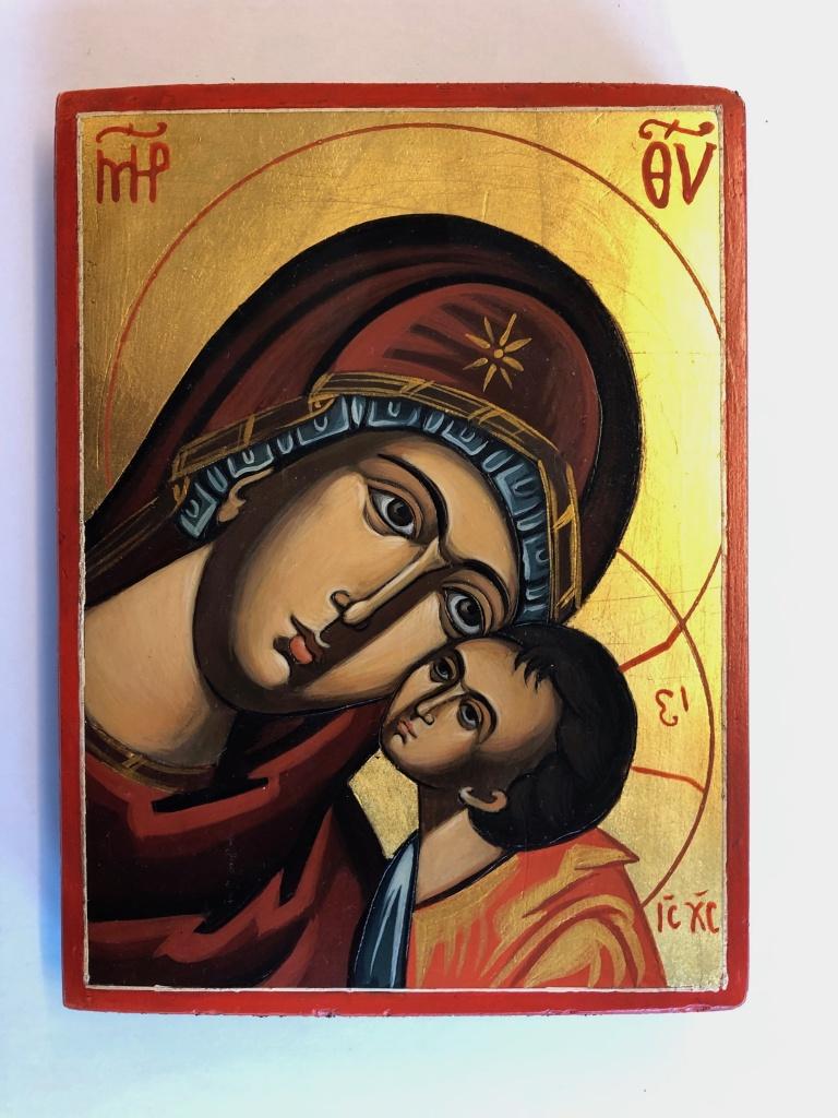 Ömhetens Gudsmoder, närbild (12x16), äkta ikon