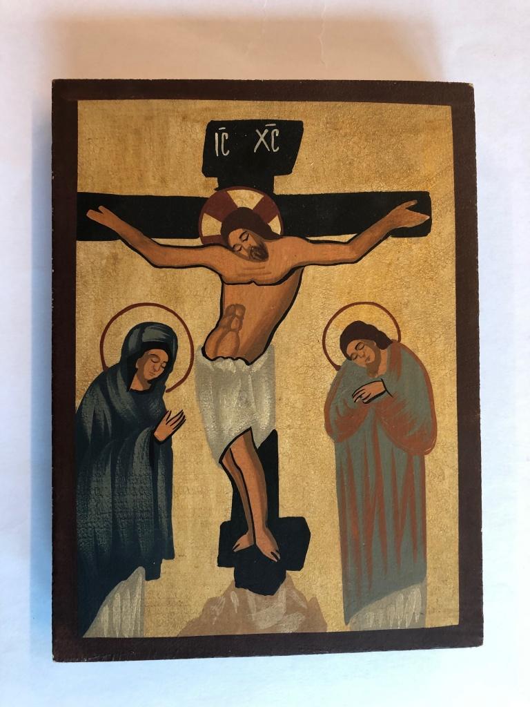 Korsfästelsen (12x16), äkta ikon
