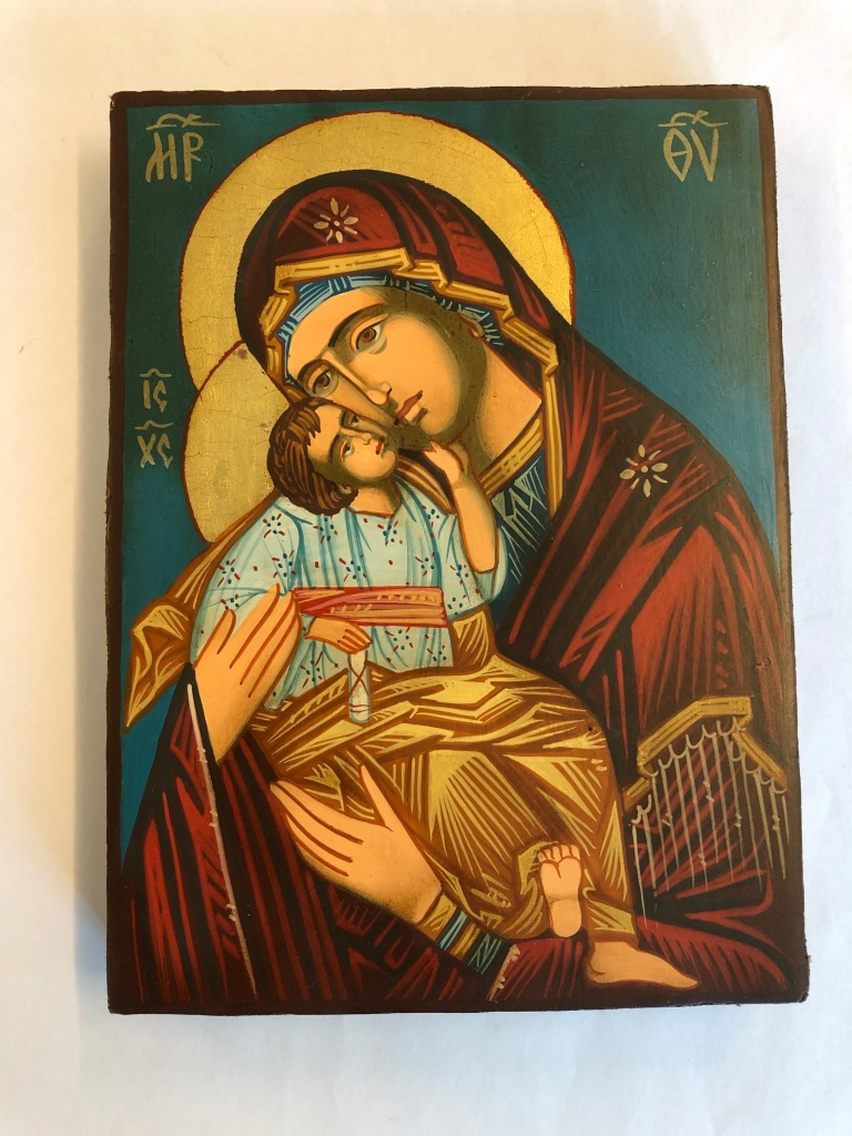 Ömhetens Gudsmoder (12x16), äkta ikon
