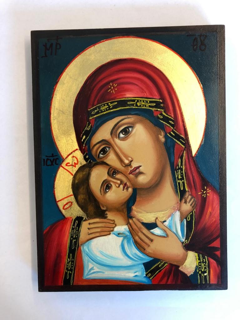 Ömhetens Gudsmoder (16x22), äkta ikon