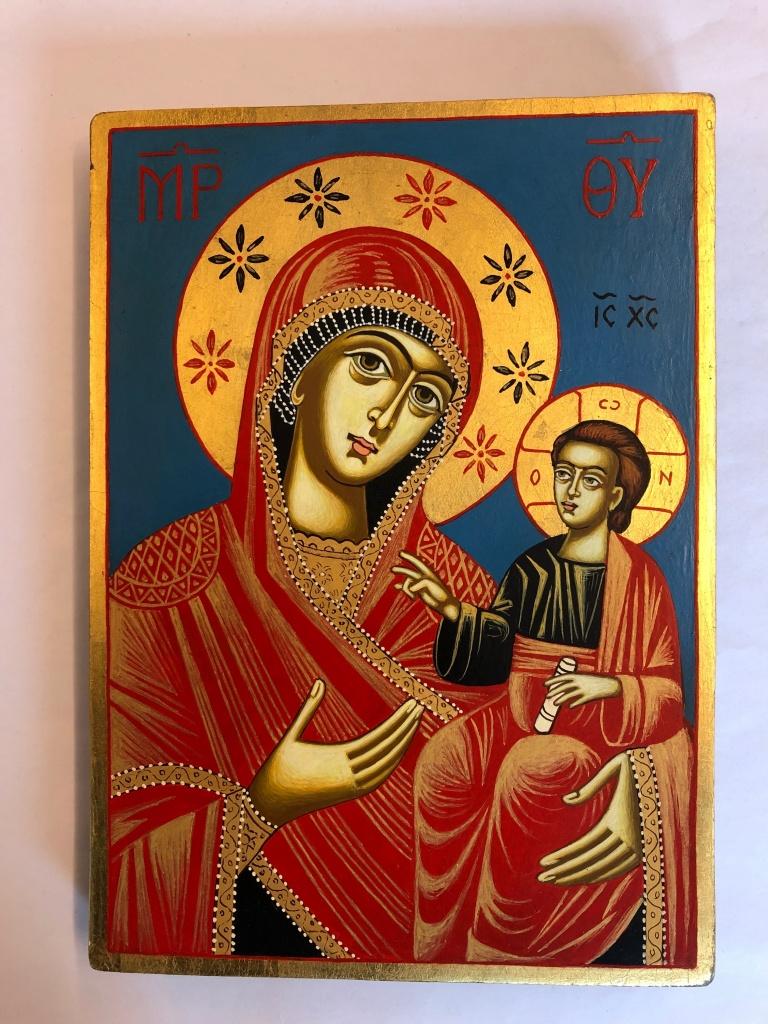 Maria & Jesusbarnet (18x25), äkta ikon