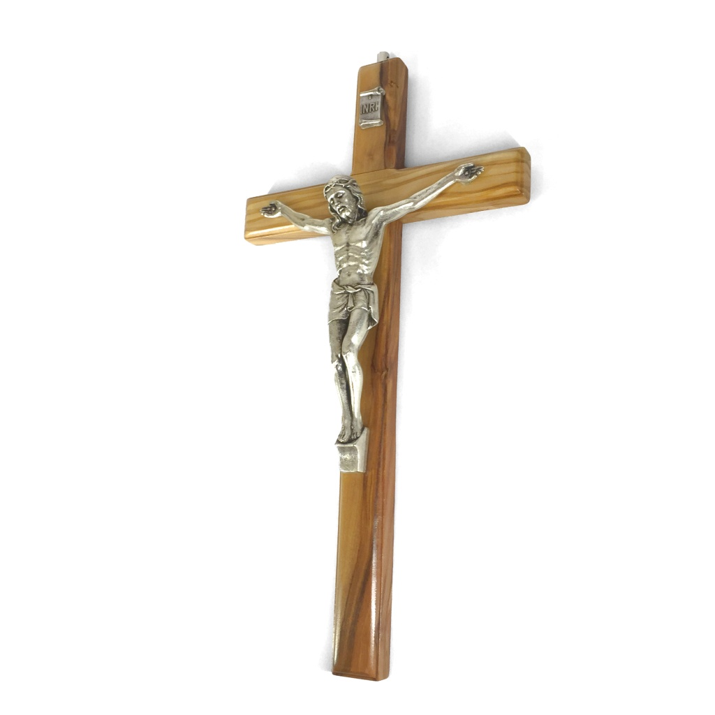 Krucifix, latinskt, trä (16 cm)