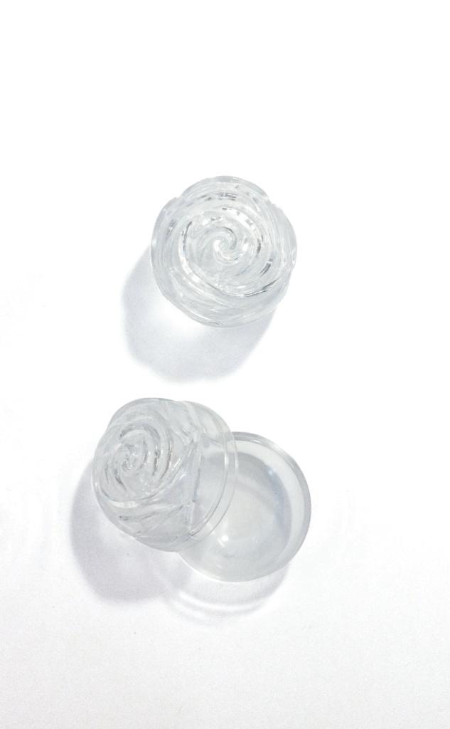 Rosenkransask, rosformad, 40mm, plast