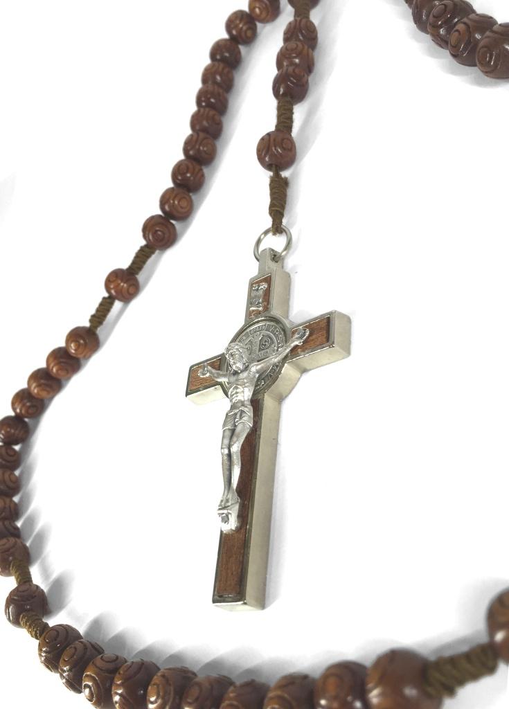 Benedictus-rosenkrans, dek., stor, brun