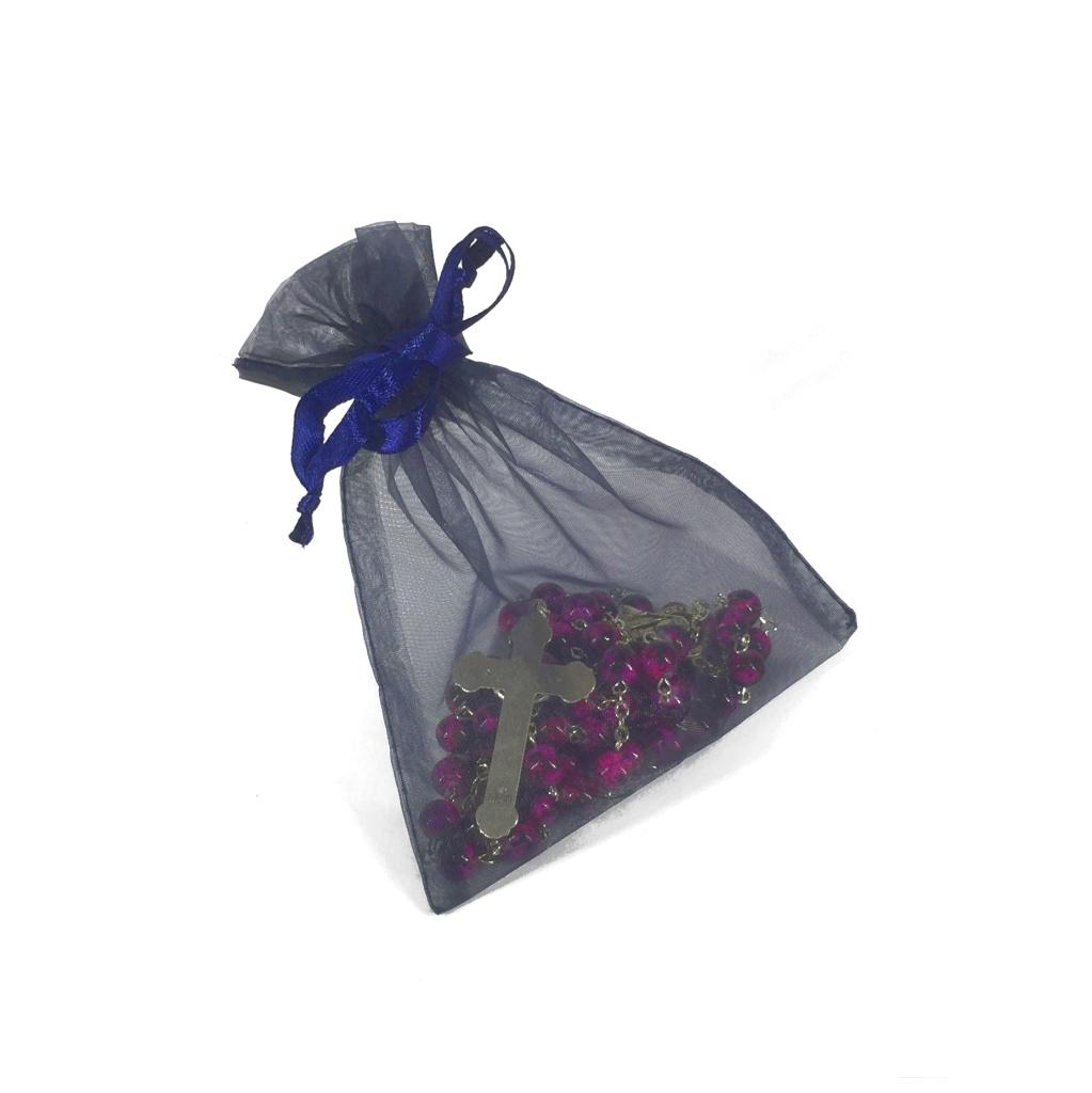 Rosenkranspåse, tunn, blå