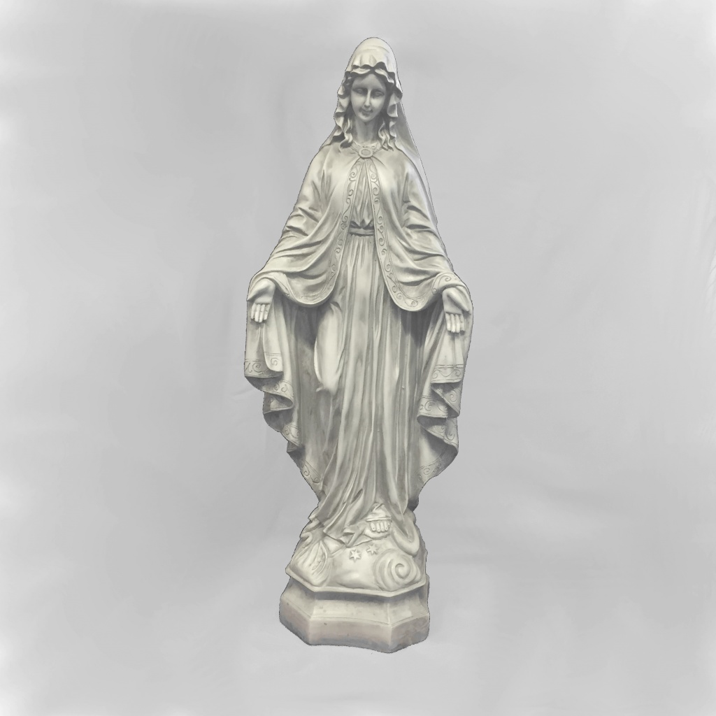 Maria, stående, naturfärgad (64 cm)