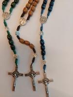 Benedictus-rosenkrans trä flera färger