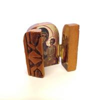Triptyk, 7 x 10cm, trä (standard)