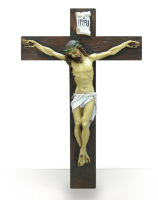 Krucifix, målat corpus (24 cm)