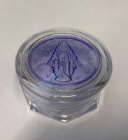 Rosenkransask m Vår Fru av Nåden i blått