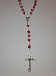 Rosenkrans med röda hjärtan