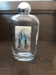 Vigvattenflaska 11 cm glas