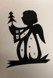 Julkort, dubbelt (handgjort)