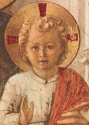 Välsignande Jesusbarn, vykort (Fra Angelico)