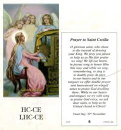 Bönekort, Cecilia (eng.)
